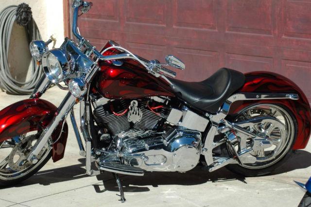 Purple Harley Davidson Fatboy