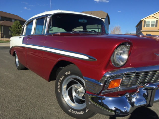 Beautiful 1956 chevrolet bel air 4 door for 1956 chevy 4 door