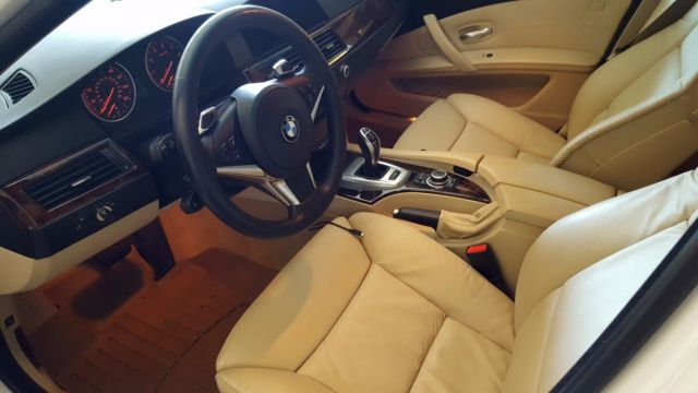 beautiful and unique bmw 535i alpine white with black trim and tan interior. Black Bedroom Furniture Sets. Home Design Ideas