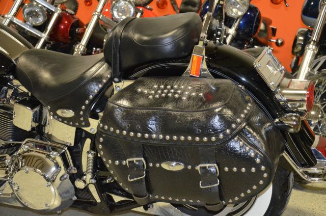 Black 2005 Harley Davidson Heritage Softail Classic Flstc