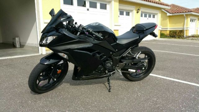 Black 2014 Kawasaki Ninja 300 with carbon fiber Yoshimura ...