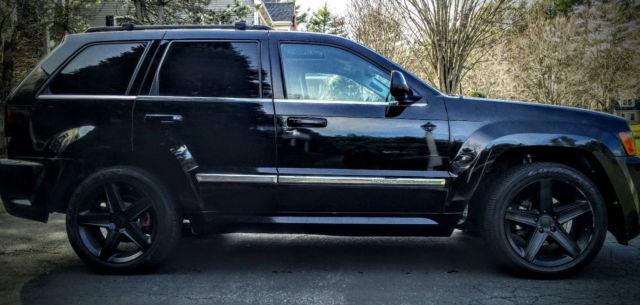 black jeep gc srt clone wk1 87k mi on engine 195k mi on body clean title. Black Bedroom Furniture Sets. Home Design Ideas
