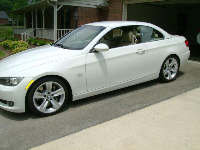bmw 2008 335i twin turbo hardtop convertible white tan interior low miles. Black Bedroom Furniture Sets. Home Design Ideas