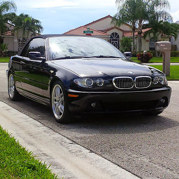 BMW 330CI BLACK ON BLACK CONVERTIBLE SPORT PACKAGE BBS WHEELS