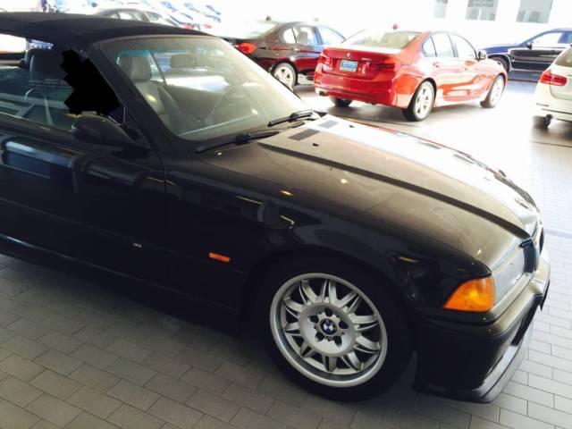 BMW M3 e36 3 2L AUTOMATIC Black Convertible 1998 clean title