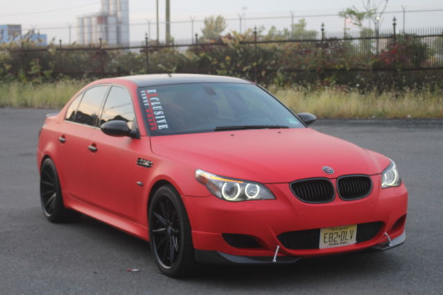 bmw m5 e60 2006 v10 custom wrapped 4 door sedan 500 hp red. Black Bedroom Furniture Sets. Home Design Ideas