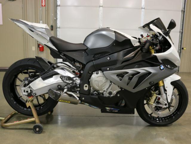 BMW S1000RR Like New FULL EXHAUST Matte Grey CARBON FIBER ...