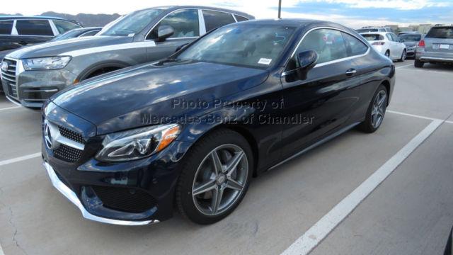 C300 coupe c class new 2 dr automatic gasoline 2 0l 4 cyl for Mercedes benz lunar blue