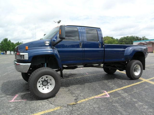 C C Kodiak Top Kick X Lifted Custom Diesel Monster Truck on Chevrolet C5500 Duramax Diesel Engine