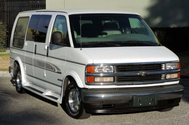 California Original 1996 Chevy G10 Express Red E Kamp Conversion Van One Owner