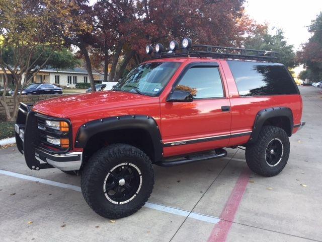 Chevrolet Tahoe Lt Rare 2 Door 4wd Lift Custom Roof Rack