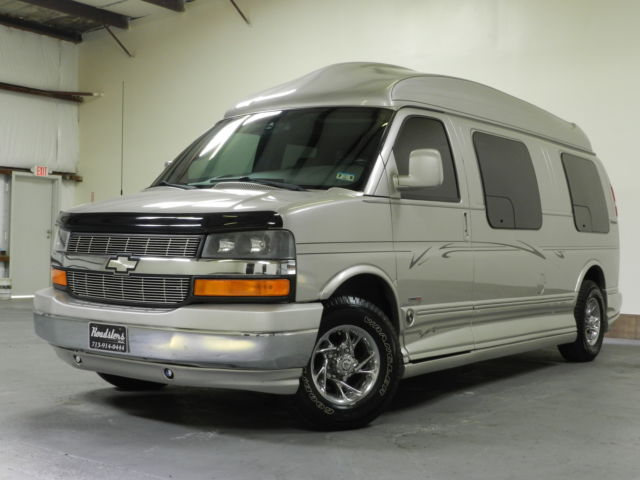 CHEVY CONVERSION VAN HI TOP 61K MILES DURAMAX TURBO DIESEL EXPLORER LTD 9 PASS