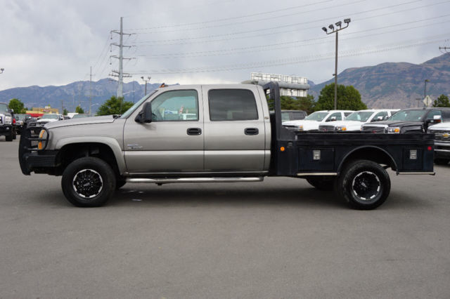 chevy crew cab lt 4x4 duramax diesel flatbed dually work truck leather