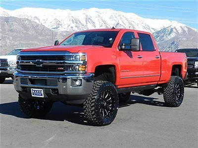 CHEVY CREW CAB LTZ 4X4 DURAMAX DIESEL CUSTOM NEW LIFT 22 ...
