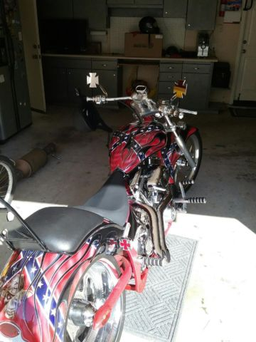 Harley Davidson Cruiser >> Chopper, Confederate Flag, Rebel Flag, Custom, Great way to show southern pride