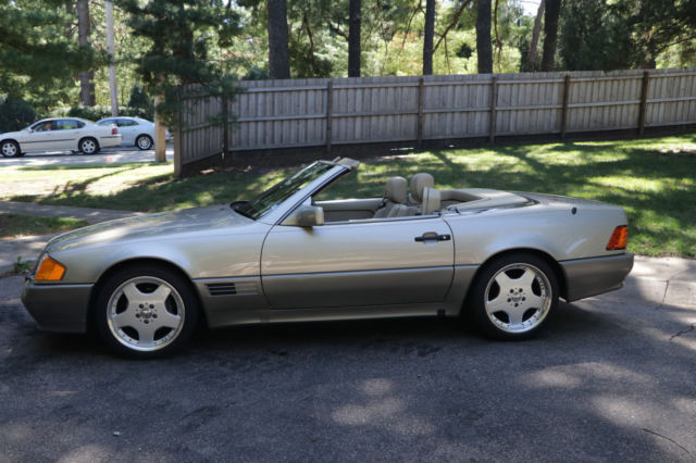 Clean 1991 Mercedes Benz 300sl Convertible 47 459 Miles 2 Tops Amg Wheels