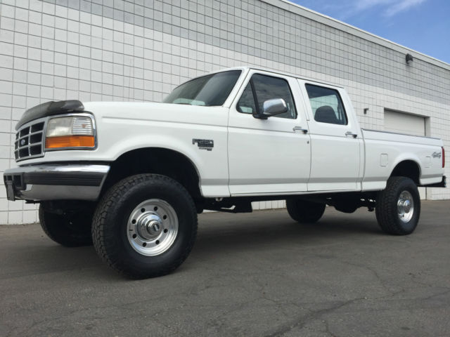clean 1997 ford f250 crew cab xlt 4x4 short bed 7 3 powerstroke turbo diesel. Black Bedroom Furniture Sets. Home Design Ideas