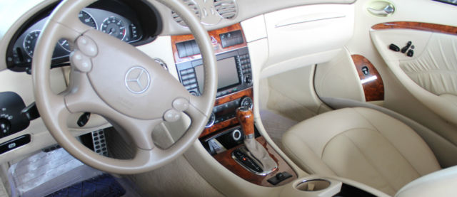 clk 350 convertible blue on blue off white leather interior exc condition. Black Bedroom Furniture Sets. Home Design Ideas
