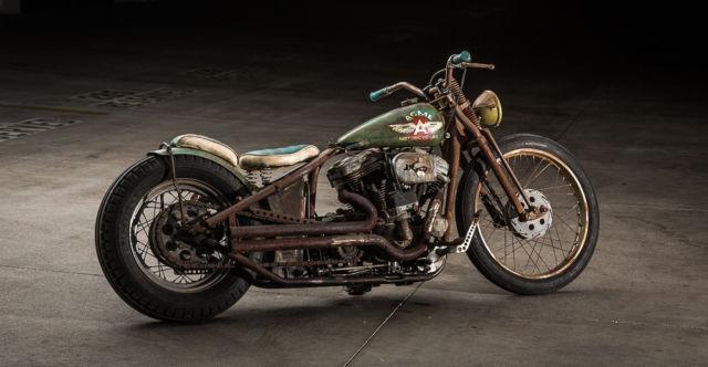 Complete Custom Build Harley Davidson Sportster Vintagerat Rod Bike on Sportster Ignition Coil Mount