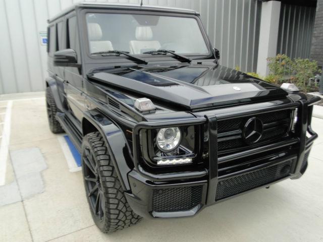 custom 2013 mercedes g63 full black on porcelainchrome deletesavini 22 wheels