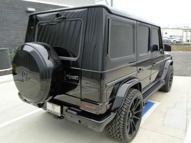 Custom 2013 mercedes g63 full black on porcelain chrome for Mercedes benz g class custom