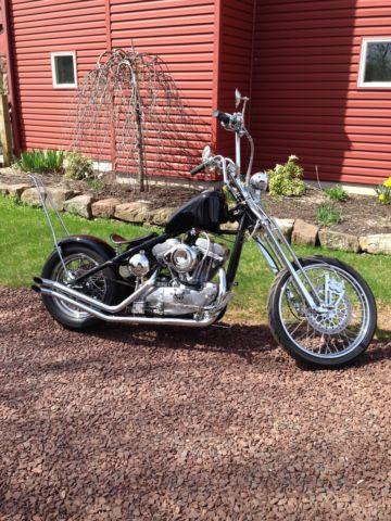 Custom Built Harley Davidson Rigid Springer Bobber Evo Sportster Engine on 1974 Harley Davidson Sportster