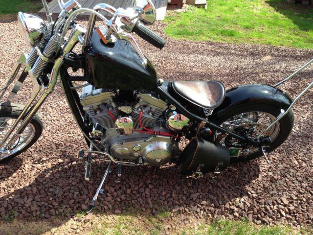 Custom Built Harley Davidson Rigid Springer Bobber Evo Sportster Engine on 1974 Xlh 1000 Harley Davidson Sportster