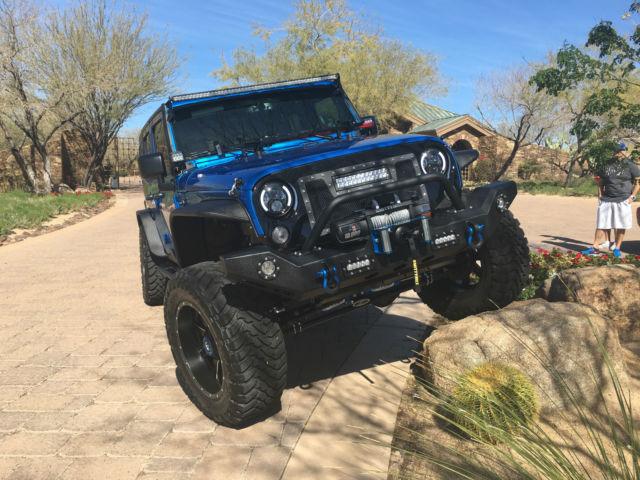 Custom Built Hydro Blue Jeep Wrangler Jk Unlimited Rubicon