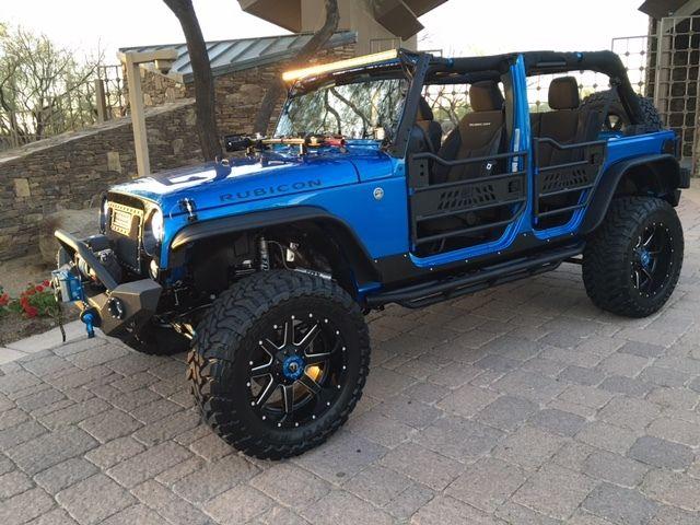 Custom built hydro blue jeep wrangler jk unlimited rubicon - Jeep wrangler unlimited interior lights ...