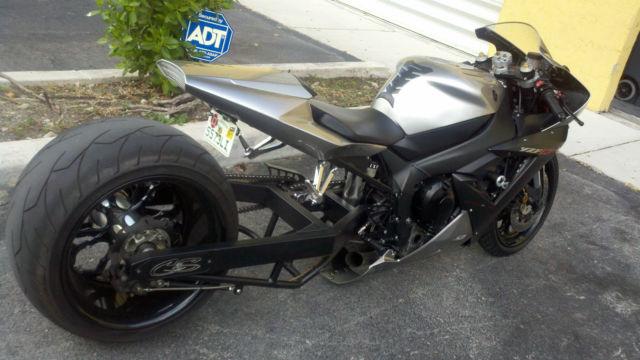 custom yamaha    rear