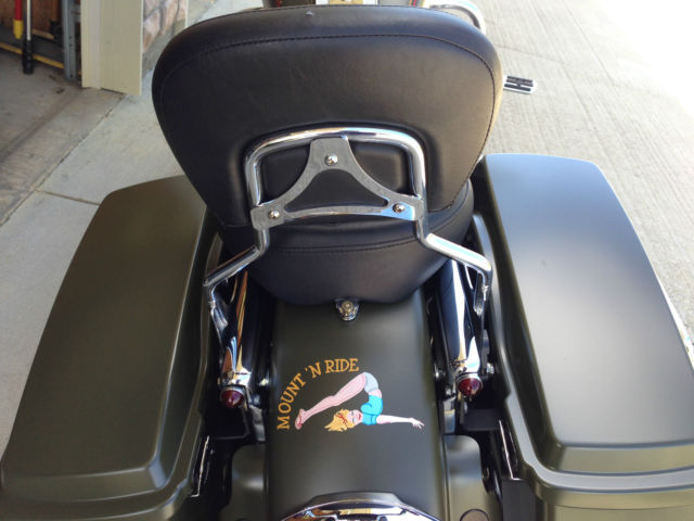Customized 2007 Harley Davidson Road King With Olive Drab