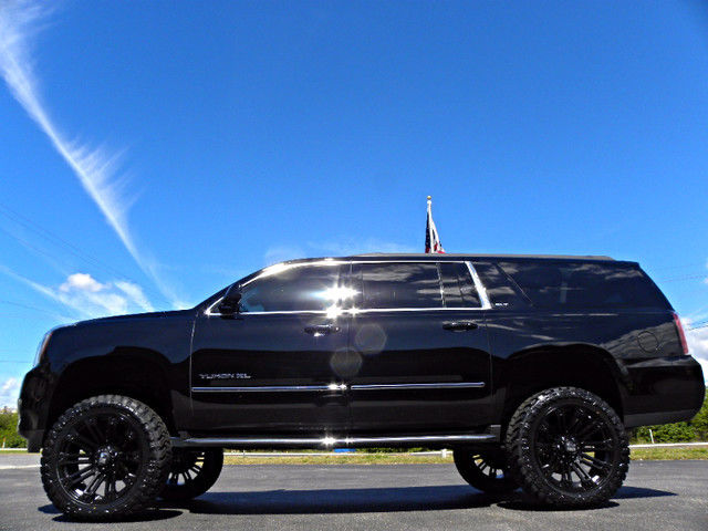 "CUSTOM*LIFTED*YUKON XL*4X4*BLACK/BLACK*22"" XD*35""s*6"" LIFT ..."