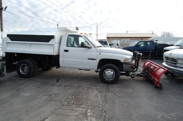 Dodge Ram Dump Truck L Cummins Diesel Meyer Snow Plow Wd Pickup X on 1999 Dodge Ram 3500 Transmission