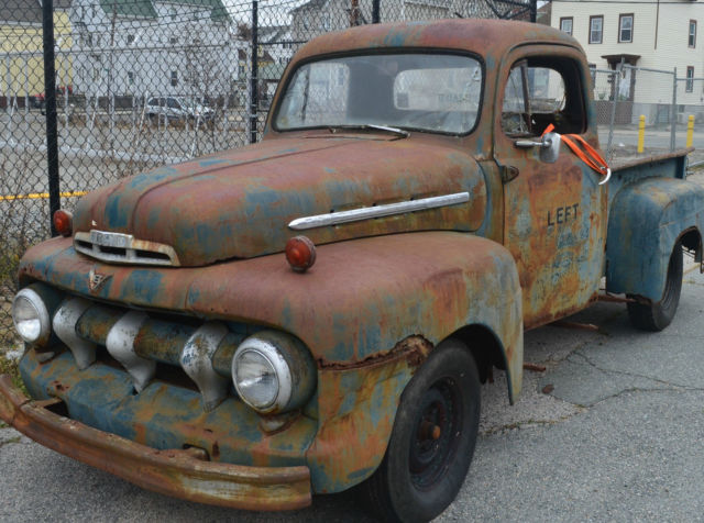 ford f 100 1951 used pickup truck green rusty antique and vintage patina on sale. Black Bedroom Furniture Sets. Home Design Ideas