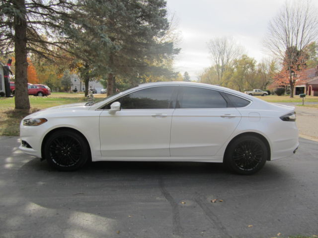 White Ford Fusion Tinted Windows >> Fusion Titanium - Pearl White / Black &Red Leather Interior - 2.0 L Ecoboost
