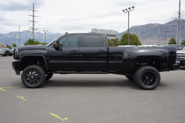 Gmc crew cab denali dually 4x4 duramax diesel leather custom lift wheels tires