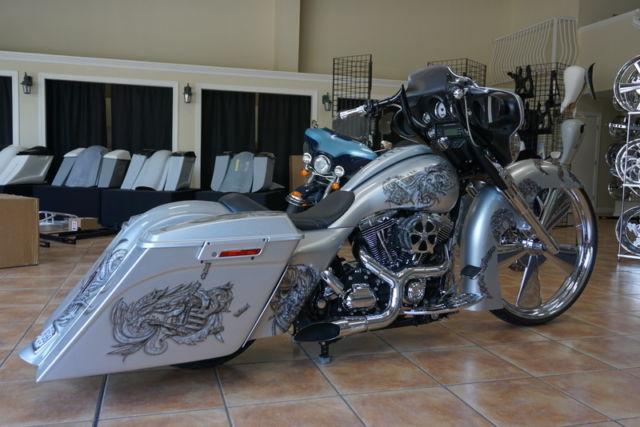 glide harley street custom bagger davidson air ride chrome wheel touring 2009