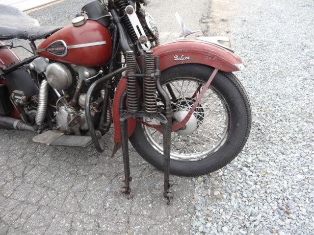 Harley Davidson 1938 1940 Springer Front Knucklehead Flathead Panhead Shove