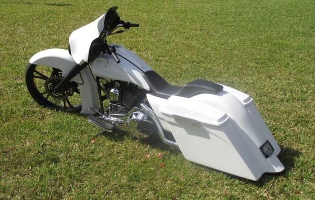 Harley Davidson Bagger With 26 Inch Front Wheel