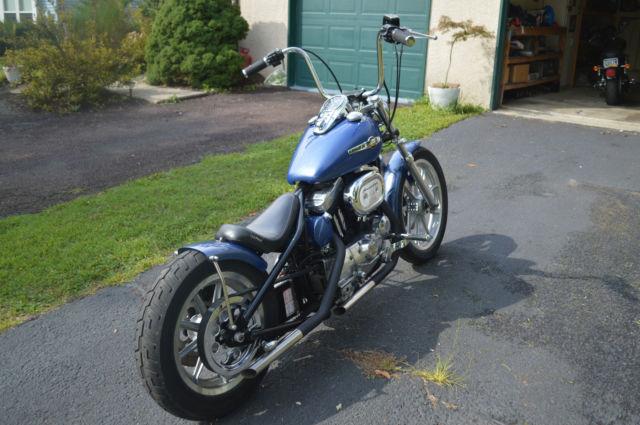 Clear Check Engine Light >> Harley Davidson Chopper Bobber Custom Hardtail EVO 1200 ...