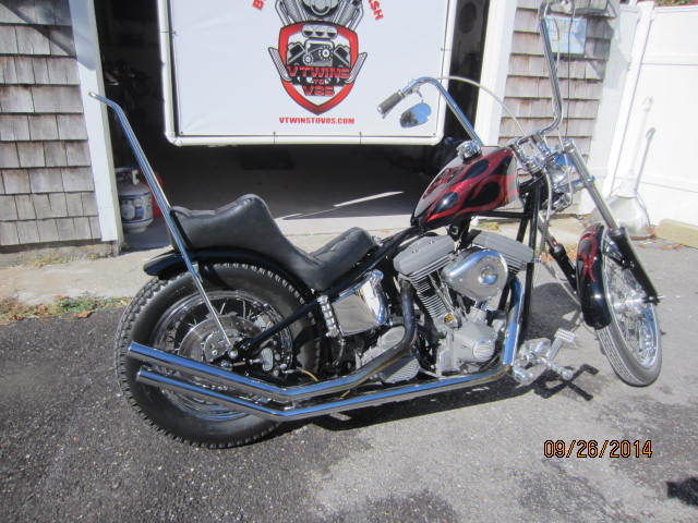 Harley Davidson Custom Hardtail Evo S Style Chopper King Queen Metal Flake on Paughco Sportster Custom Chopper
