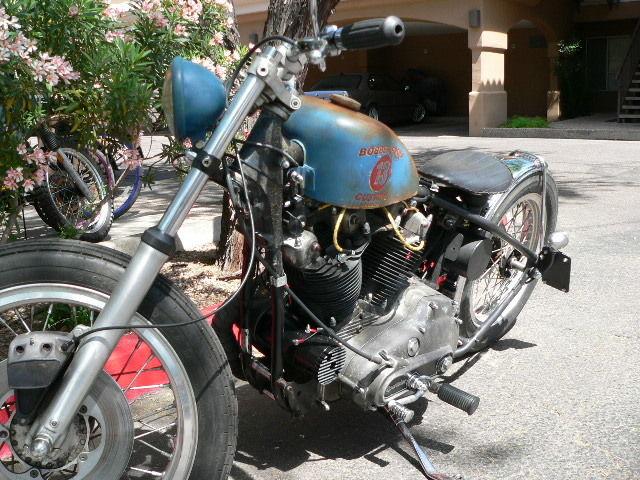Harley Davidson Custom Sportster Xlh Bobber Rat Rod Rat Bike Cc Ironhead on 1977 Ironhead Sportster