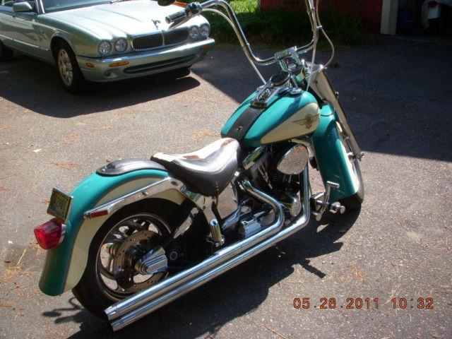 Harley Davidson  Softail  Fat Boy 1999 Custom Teal And Cream