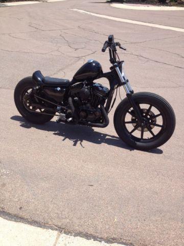 Harley Davidson Sportster Brat Style Bobber Flat Tracker Chopper Custom on Picture Oil Well Er Rod Pump
