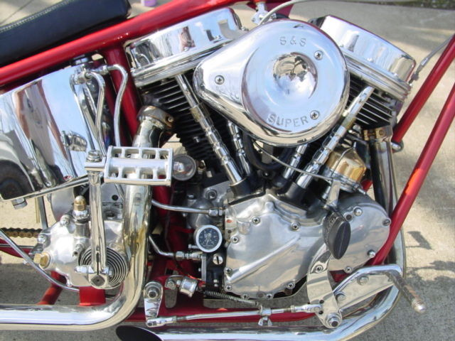Harley Panhead Chopper Harmon Digger Custom Show Bike Knucklehead Ness Type