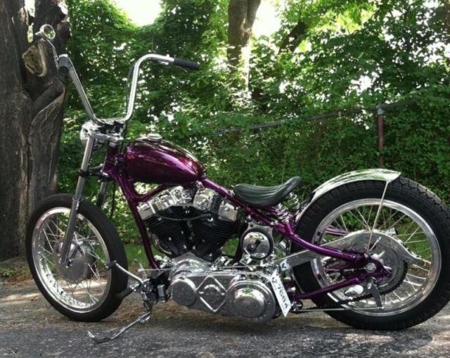 custom bobber motorcycle frames. Modren Frames Harley Shovelhead In A VL Frame Custom Chopper Bobber Panhead Knucklehead To Motorcycle Frames Y