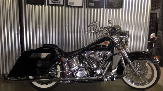 Harley Davidson For Sale California >> Heritage Classic True Dual Fishtails Stretched Saddlebags Gangster Whitewalls