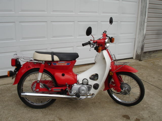 honda 1981 c70 70 passport with title very nice condition runs good scooter. Black Bedroom Furniture Sets. Home Design Ideas