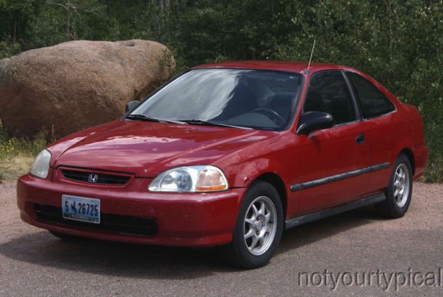 Honda Civic HX Coupe 1997 Red With Charcoal Interior
