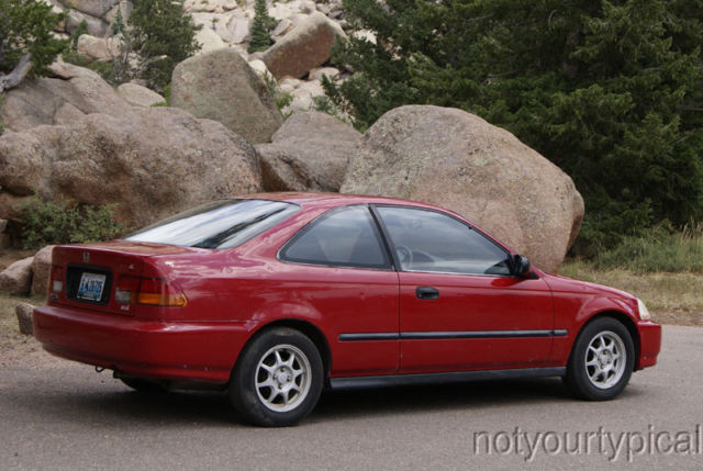 honda civic hx coupe 1997 red with charcoal interior. Black Bedroom Furniture Sets. Home Design Ideas